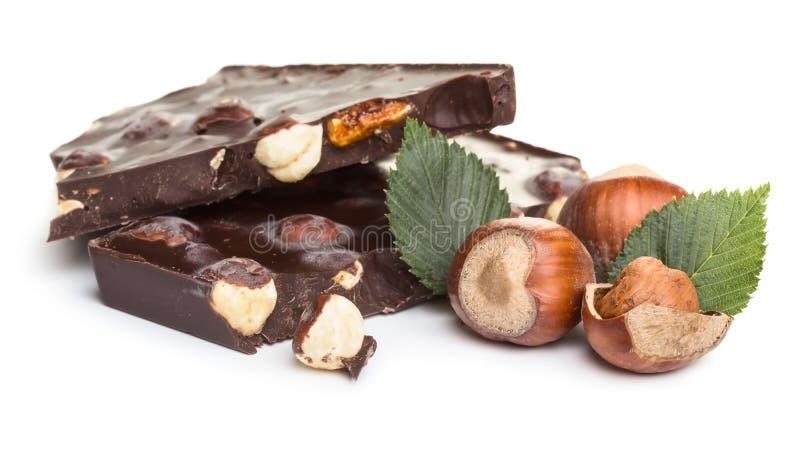 Chocolate with hazelnuts royalty free stock photo