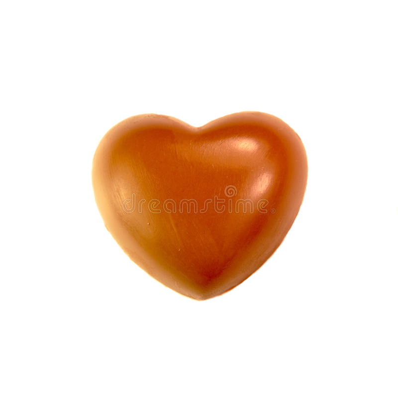 Chocolate Heart Stock Photography