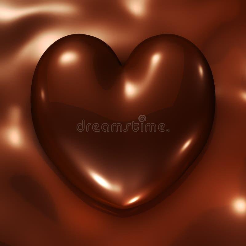 Chocolate heart vector illustration