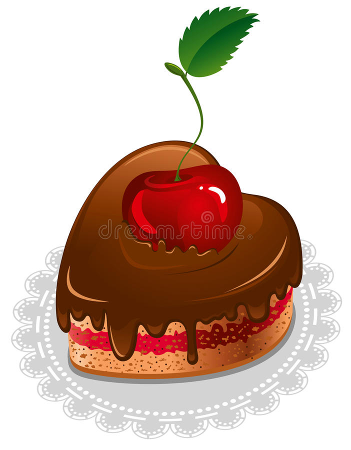 Download Chocolate heart stock vector. Illustration of color, birthday - 22739521