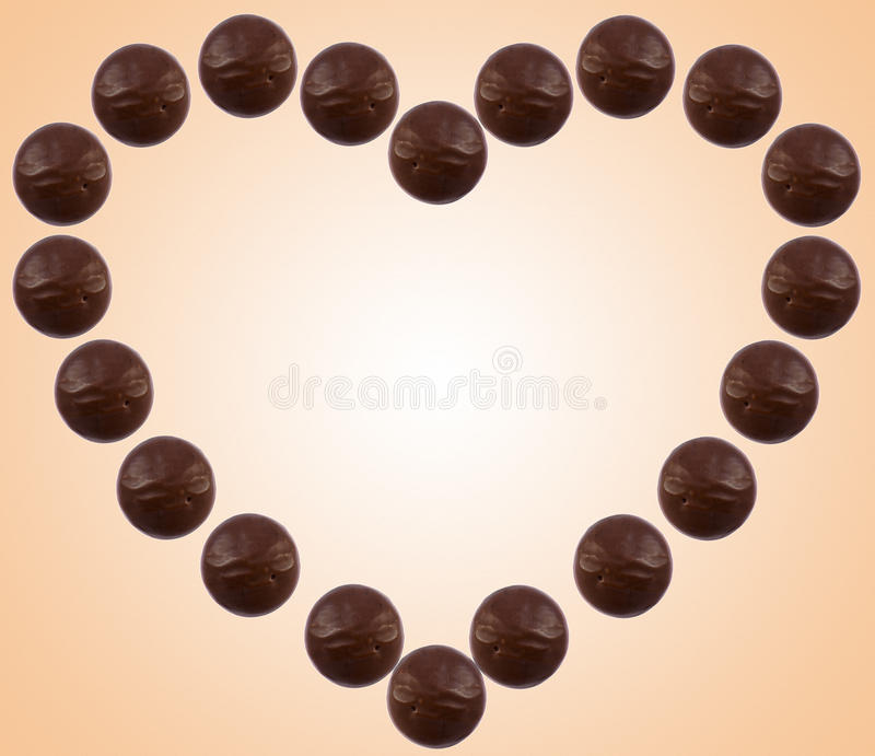 Download Chocolate heart stock image. Image of sugar, valentine - 24075123