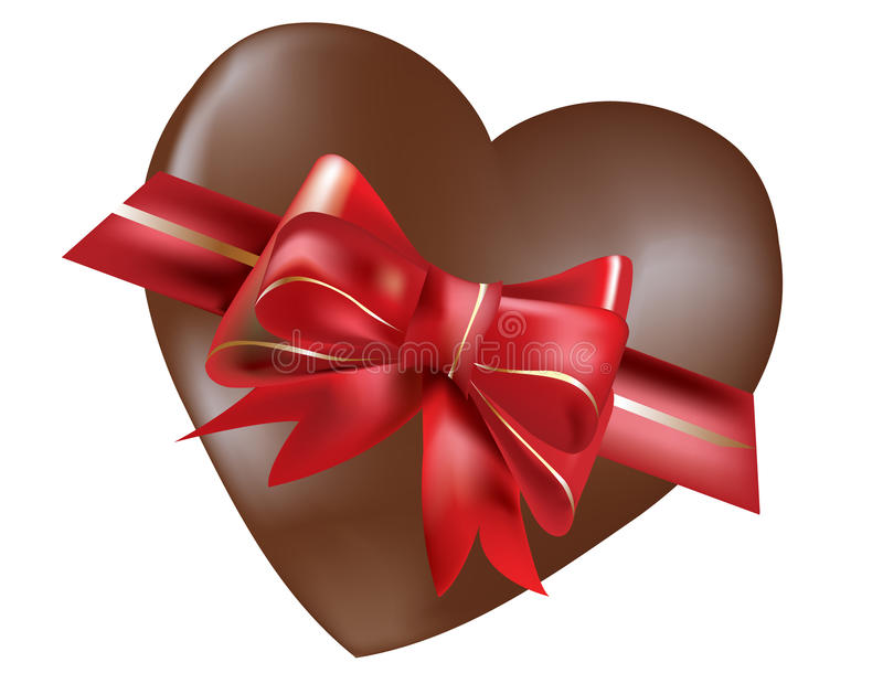 Download Chocolate heart stock illustration. Image of isolated - 29062103