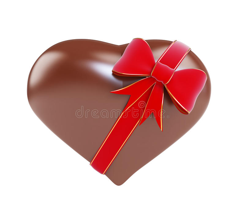 Download Chocolate heart gift stock illustration. Illustration of heart - 28873140