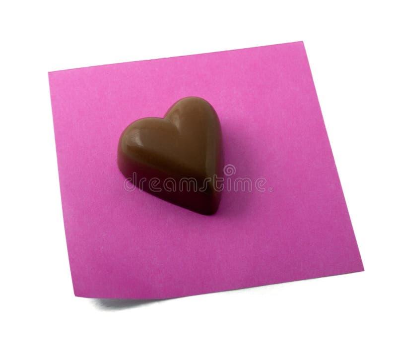 Free Chocolate Heart Note Stock Photos - 7257583
