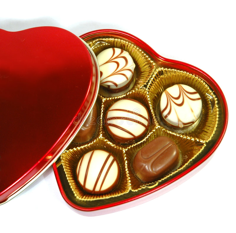 Download Chocolate In Heart Shape Box Stock Image - Image of candy, brown: 1703699