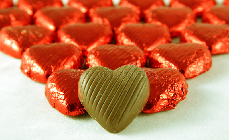 Download Chocolate Hearts stock image. Image of present, heart, hearts - 457209