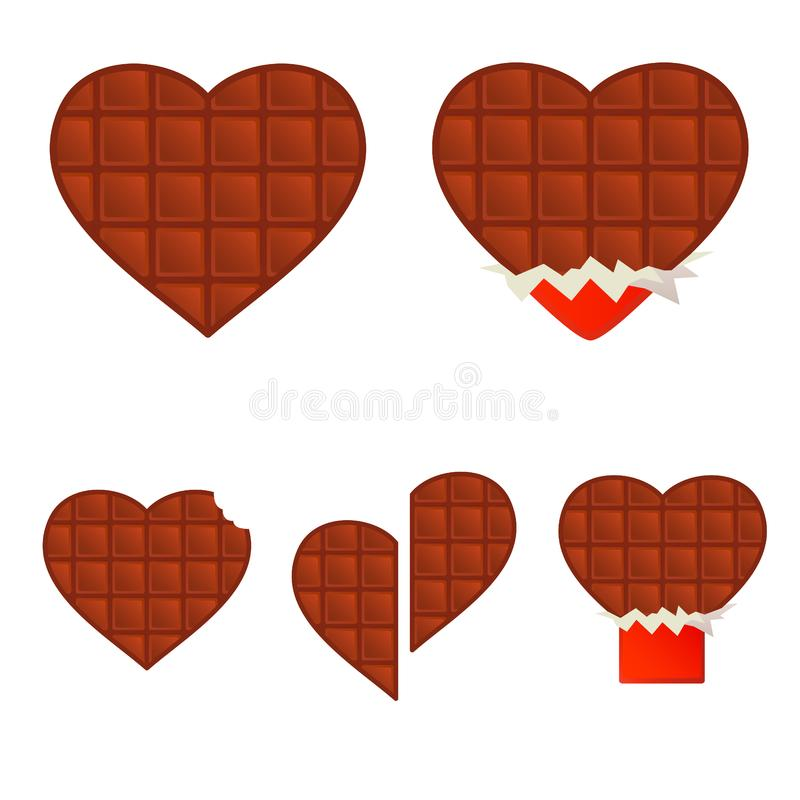 Download Chocolate hearts stock vector. Illustration of icon, image - 5991417