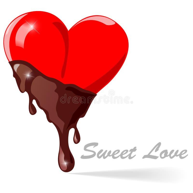 Chocolate hearts - Vector illustration royalty free illustration
