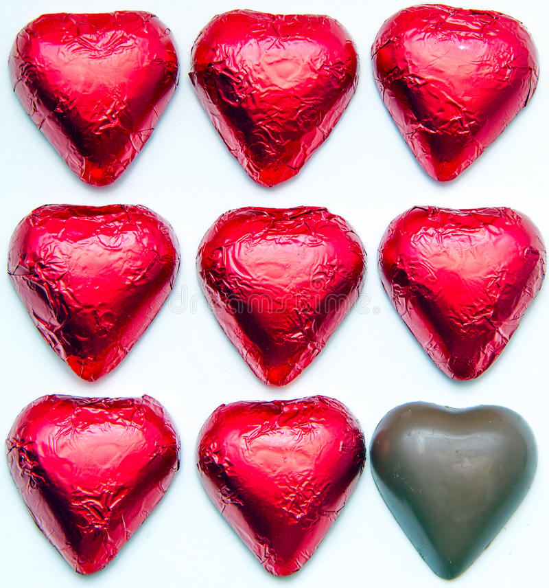 Download Chocolate hearts stock photo. Image of chocolate, foil - 30820860