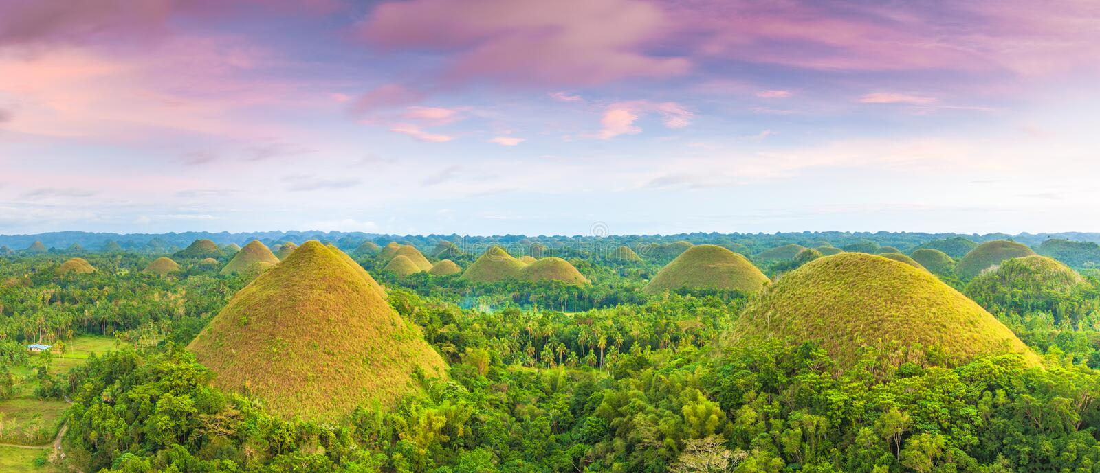 Chocolate Hills stock photos