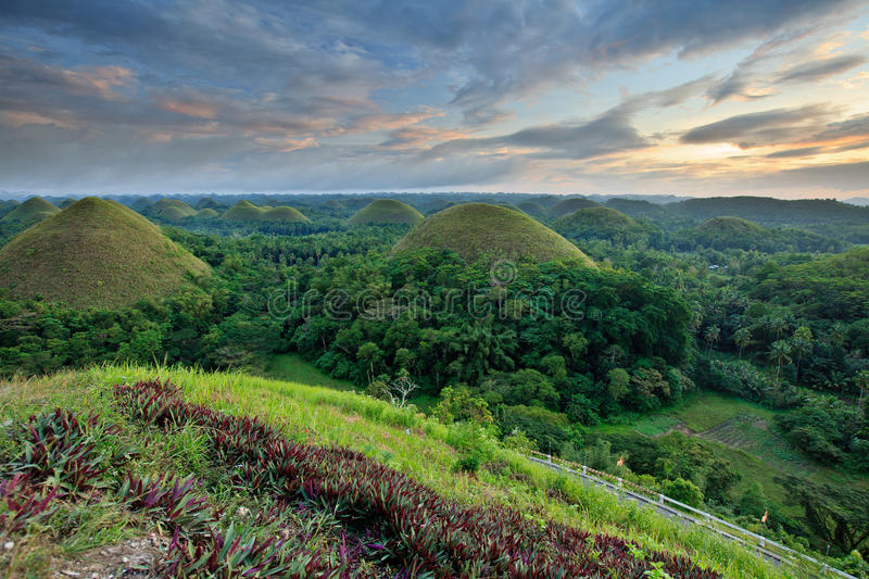 Chocolate Hills in Bohol, Philippines stock image
