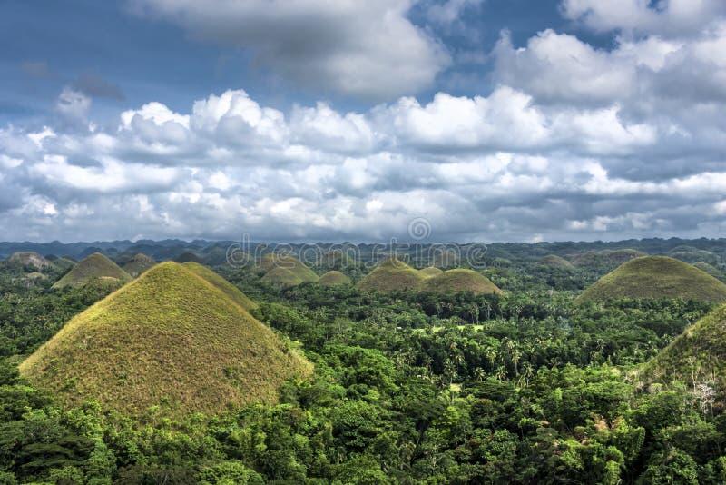 Chocolate Hills, Cebu, The Philippines. Over look of landscape at Chocolate Hills, Cebu, The Philippines stock image