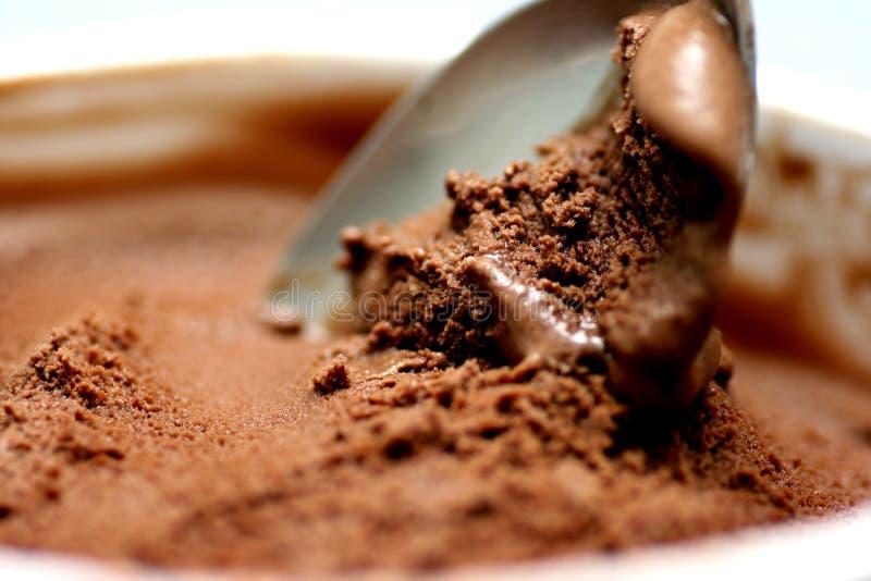 Chocolate ice-cream stock photo