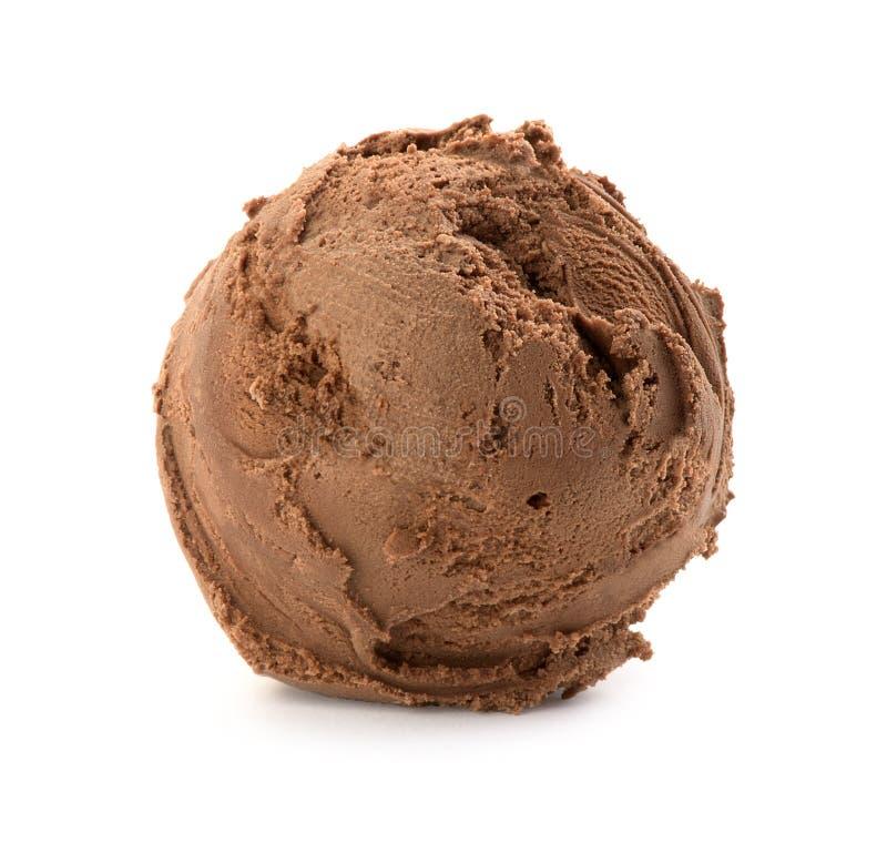 Chocolate ice cream ball stock photo