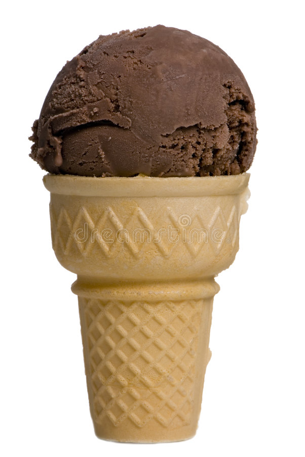 Download Chocolate Ice cream cone stock image. Image of chocolate - 1803443