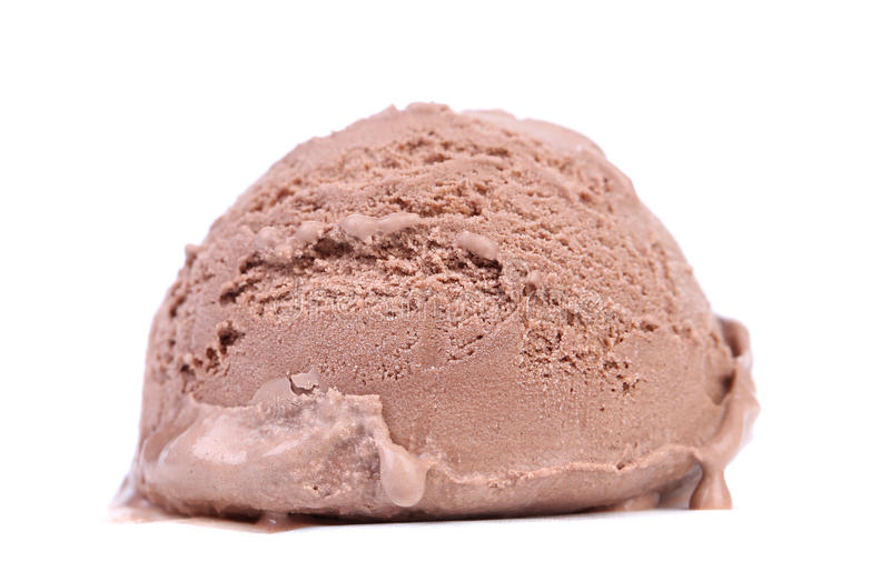 Chocolate Ice Cream Scoop. royalty free stock images