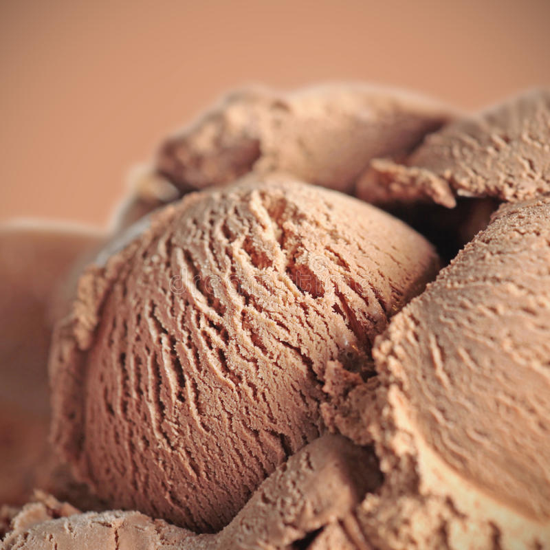 Chocolate icecream royalty free stock photos