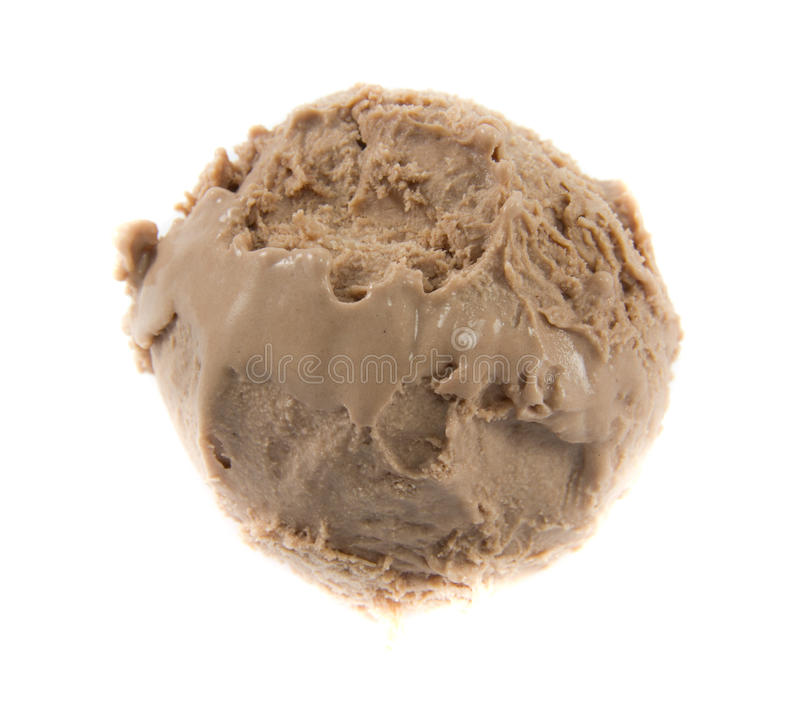 Chocolate icecream ball. Picture of a a cold chocolate icecream ball royalty free stock photography