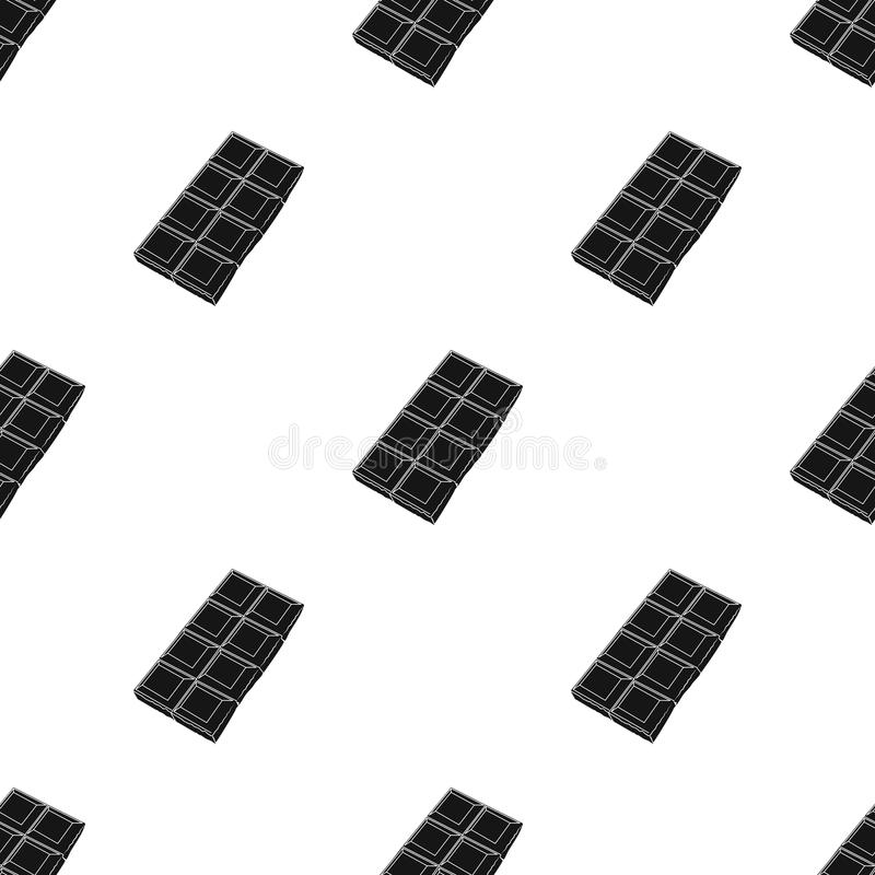 Chocolate icon in black style isolated on white background. Chocolate desserts symbol stock vector illustration. Chocolate icon in black design isolated on vector illustration