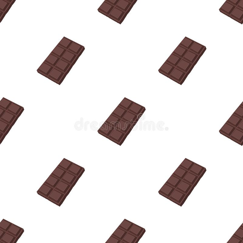 Chocolate icon in cartoon style isolated on white background. Chocolate desserts symbol stock vector illustration. Chocolate icon in cartoon design isolated on royalty free illustration