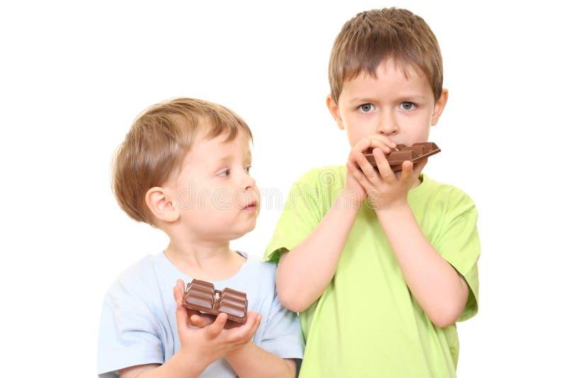 Chocolate kids royalty free stock photo