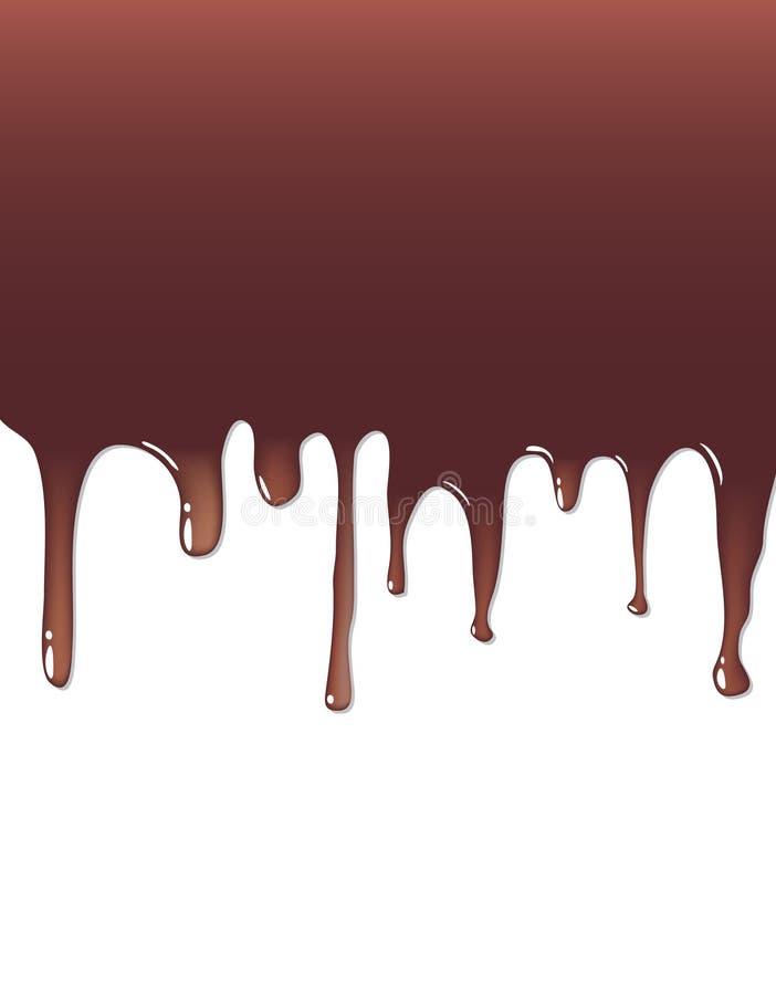 Chocolate líquido ilustração stock