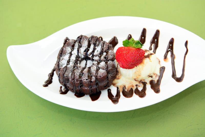 Chocolate Lava Cakes imágenes de archivo libres de regalías