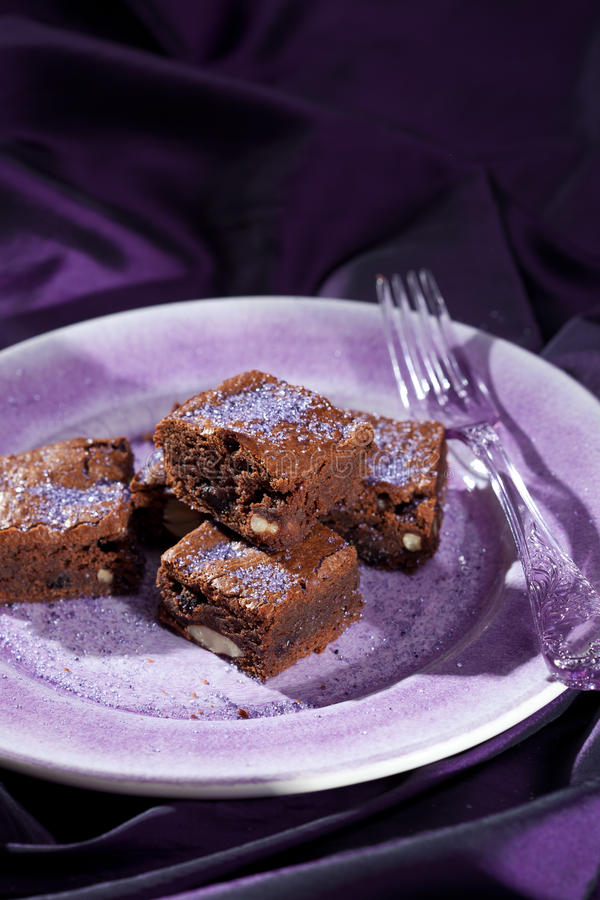 Chocolate Lavender Brownies Stock Images