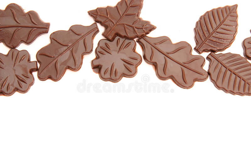 Chocolate leaves royalty free stock image