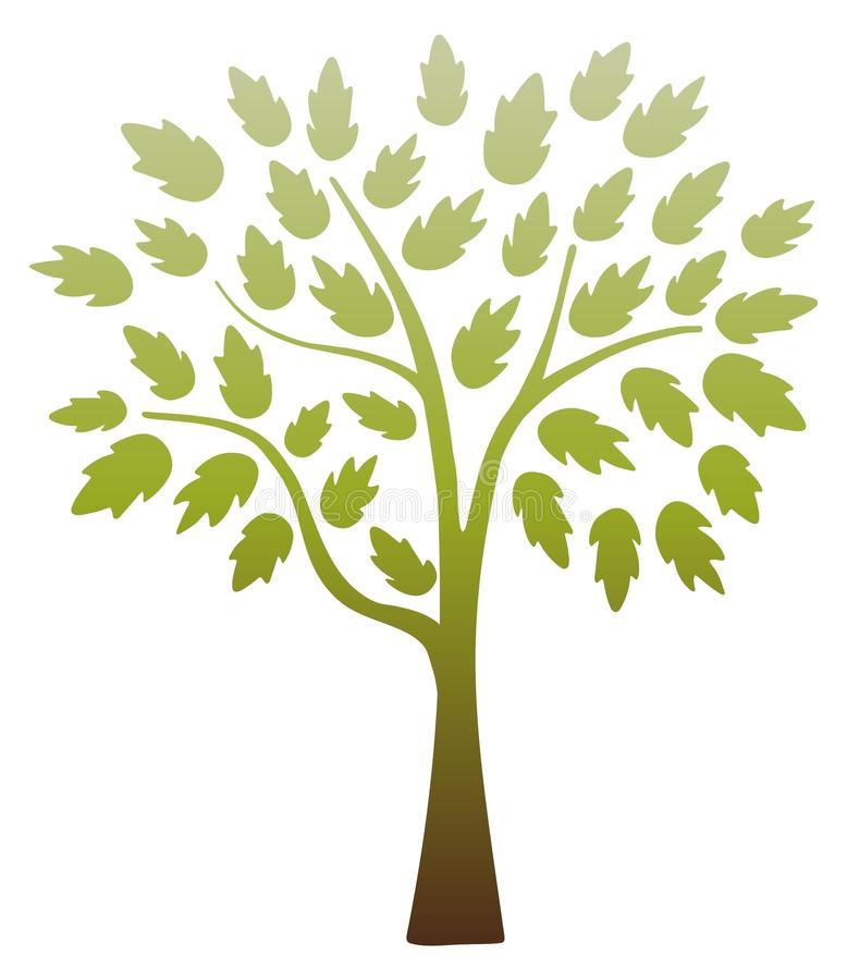 Chocolate Lime Tree royalty free illustration