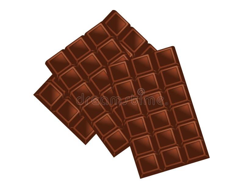 Chocolate liso ilustração stock