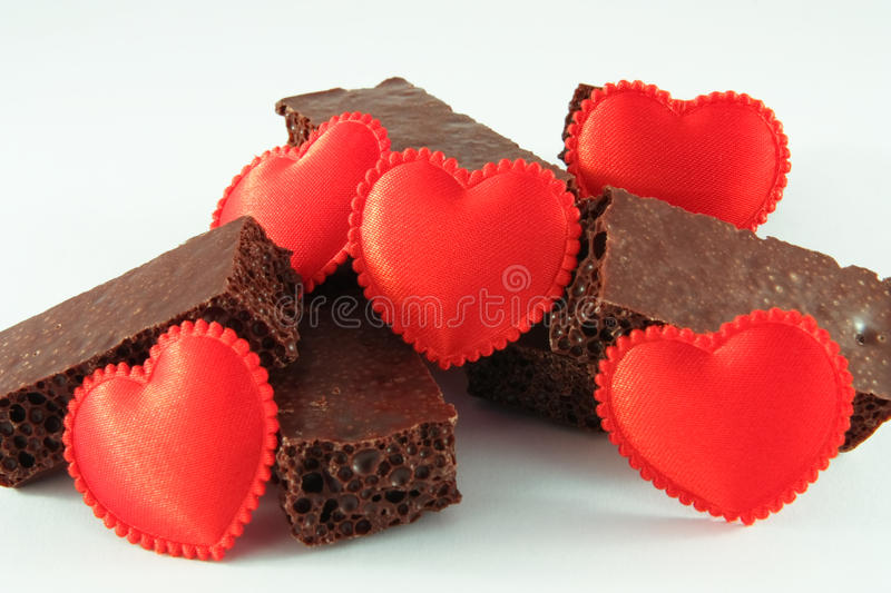 Chocolate with love stock image