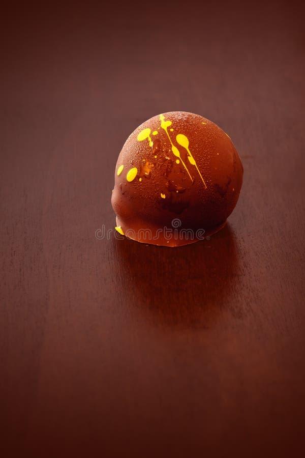 Chocolate luxuoso gourmet cremoso rico do artesão fotos de stock royalty free