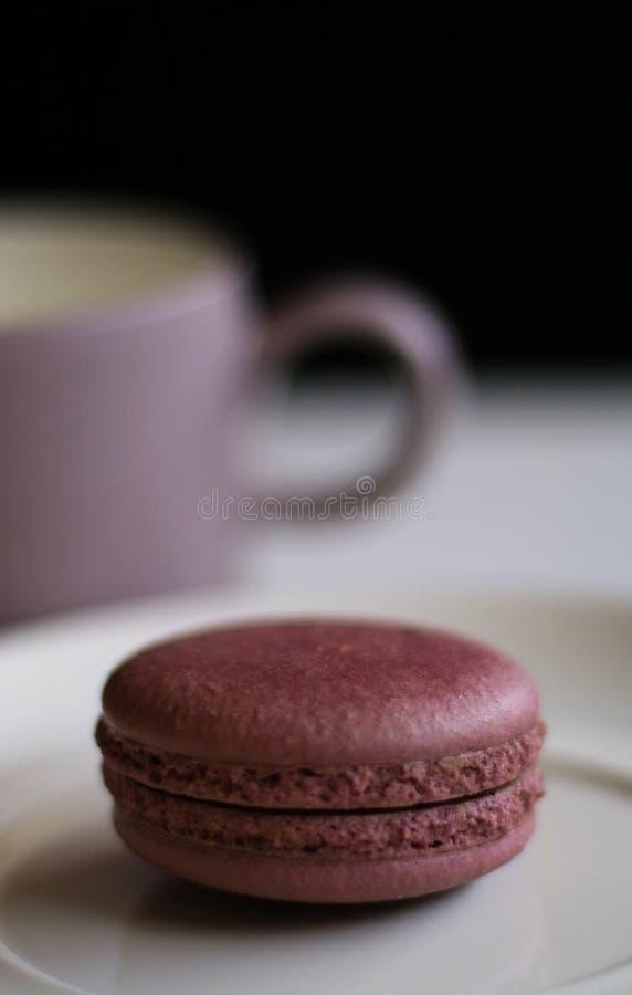 Chocolate Macron fotos de stock