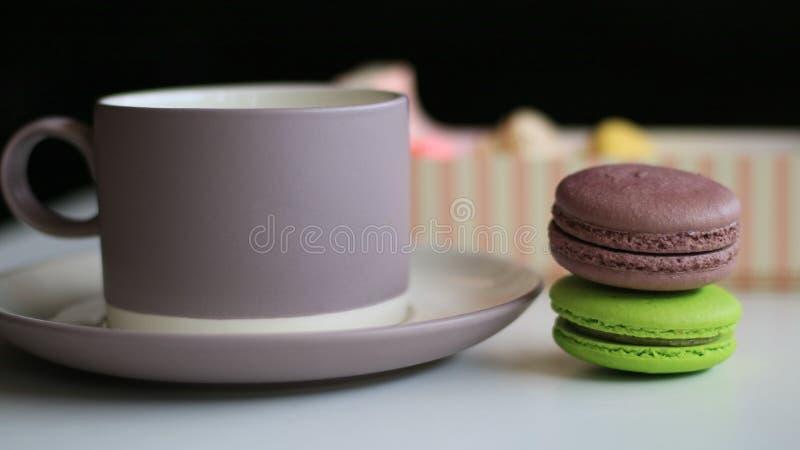 Chocolate Macron fotografia de stock