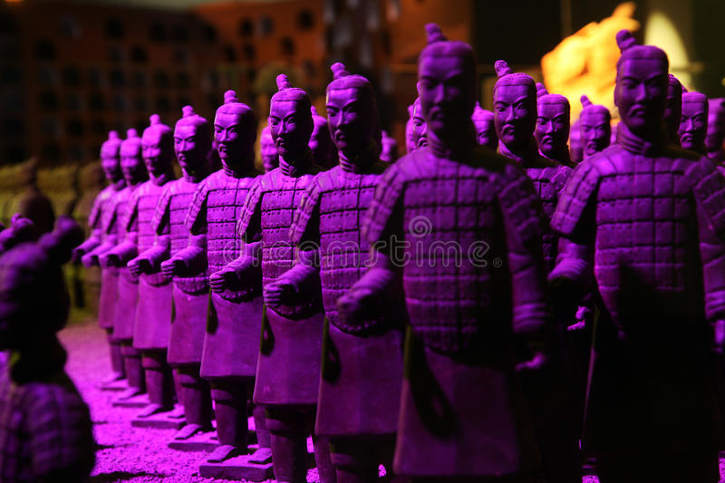 Chocolate-made terra-cotta warriors stock images