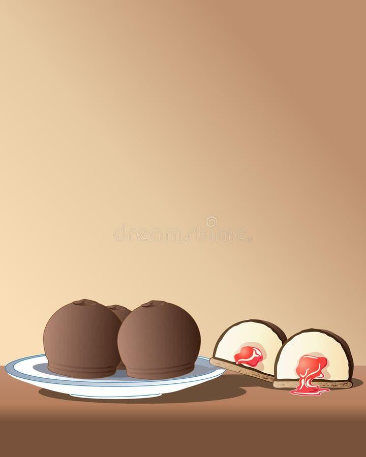 Chocolate marshmallows stock illustration