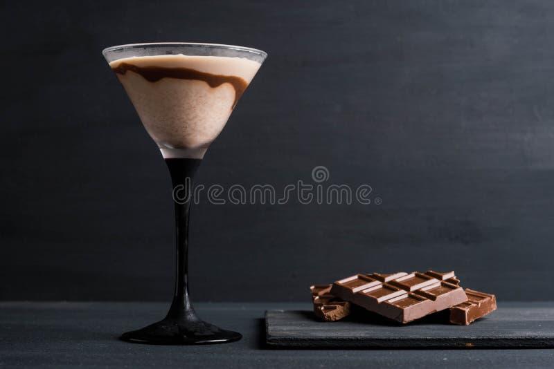 Chocolate martini fotografia de stock royalty free