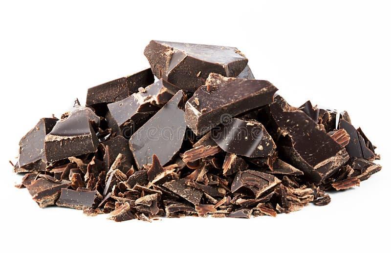 Chocolate massacrado preto imagem de stock royalty free