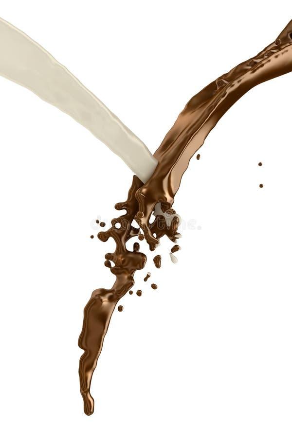 Download Chocolate & milk stock illustration. Illustration of drip - 14445556