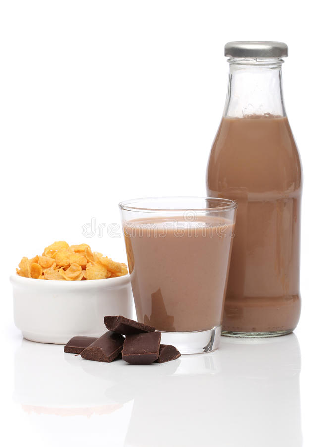 Free Chocolate Milk And Cornflakes Stock Photography - 22115982