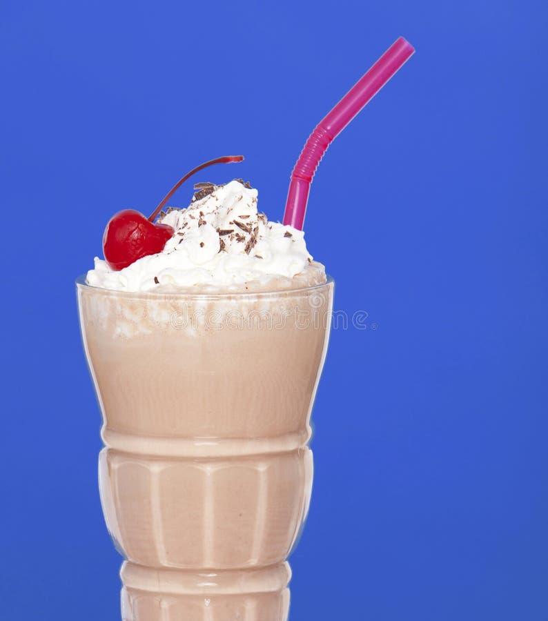 Chocolate milk shake stock photo