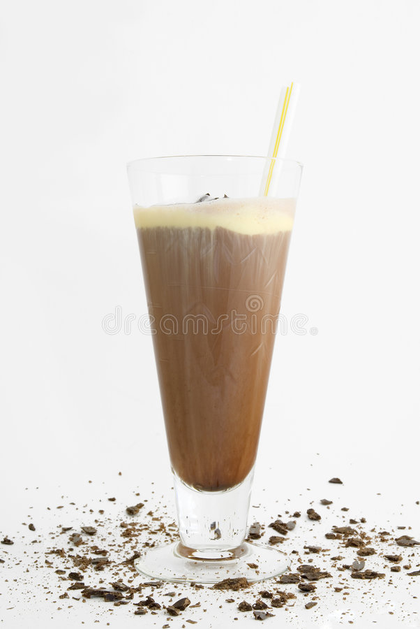 Free Chocolate Milk Shake With Straws Stock Photo - 4078290