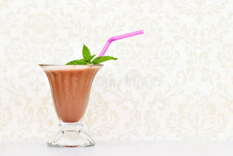 Chocolate milkshake royalty free stock images