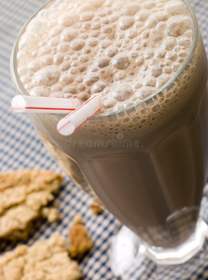 Chocolate Milkshake With A Cookie stock image