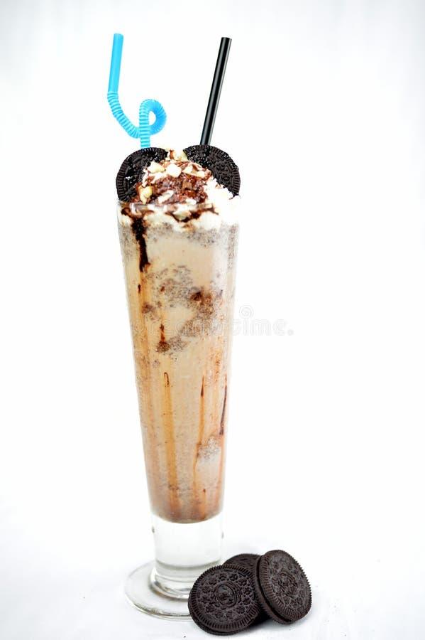 Chocolate milkshake royalty free stock photos
