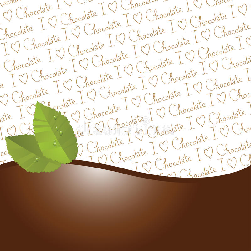 Chocolate and mint leaves border royalty free stock images