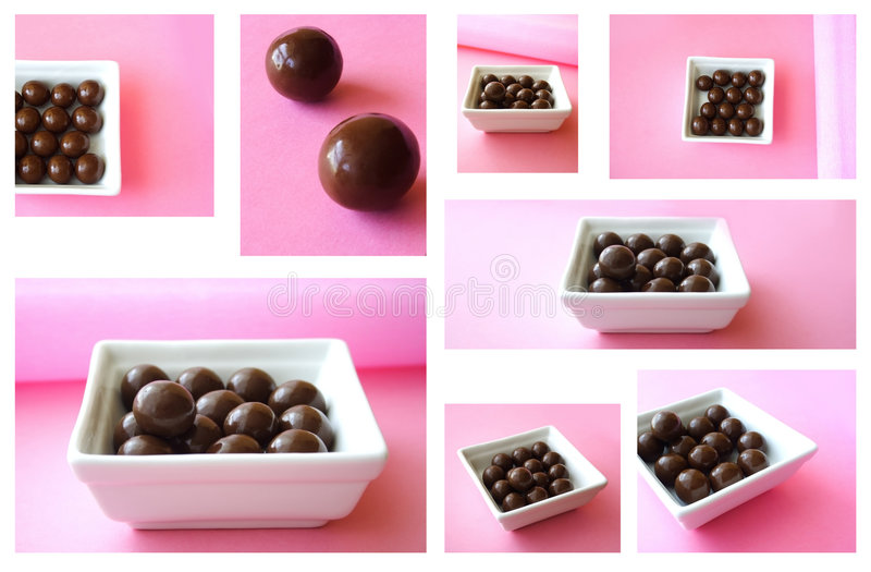 Chocolate mosaic stock images