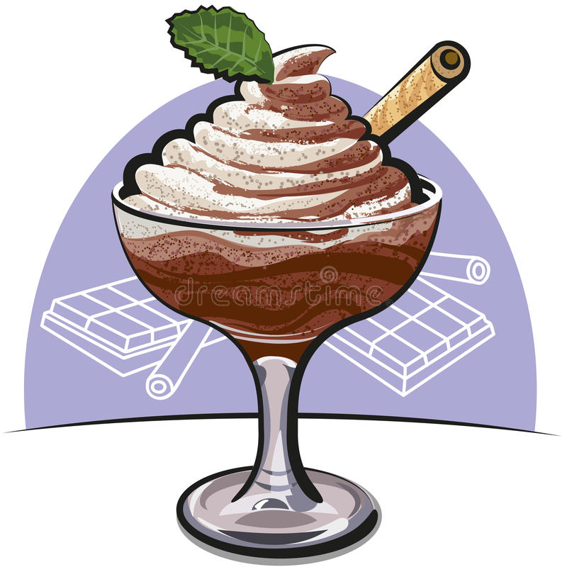Download Chocolate mousse stock illustration. Image of mousse - 22933813