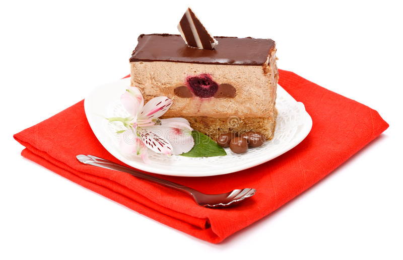 Download Chocolate mousse cake stock image. Image of mousse, sweet - 28933285